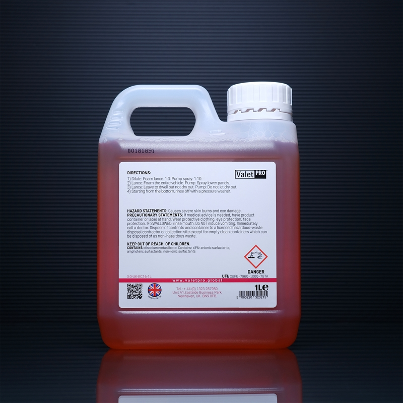 Snow Foam Combo 2 1L back label